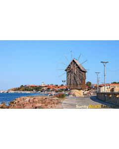 Taxi shuttle from Sunny Beach to old town Nesebar Wind mill